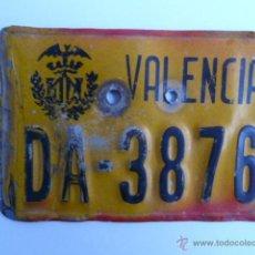 Coches y Motocicletas: MATRICULA DE CICLOMOTOR VALENCIA. Lote 139889412