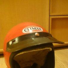 Coches y Motocicletas: ANTIGUO CASCO DE MOTOCICLETA CLIMAX TALLA 3 60-62 CMS. Lote 62993879