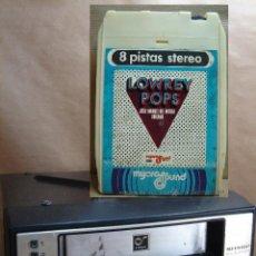 Coches y Motocicletas: RADIO CASETE 8 PISTAS - SHARP RD-807X - JAPAN 1975 + REGALO CINTA LOWREY POPS -FIDELIPAC CASSETTE. Lote 40496474