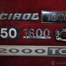Coches y Motocicletas: LOTE DE 6 ANAGRAMAS PARA COCHES. A IDENTIFICAR. Lote 53462533