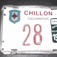 Coches y Motocicletas: MATRICULA CICLOMOTOR MOTO CHILLON 1985. Lote 53871831