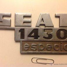 Coches y Motocicletas: SEAT 1430 PLACA TRASERA. Lote 54185001
