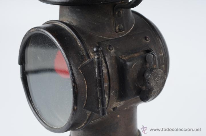 Coches y Motocicletas: ANTIGUO FAROL DE CARBURO - Foto 5 - 55029022