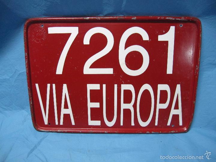 Coches y Motocicletas: ANTIGUA PLACA CHAPA MATRICULA DE TRANSITO VIA EUROPA ACAP NUMERO 7261 VEHICULO - Foto 2 - 55150019
