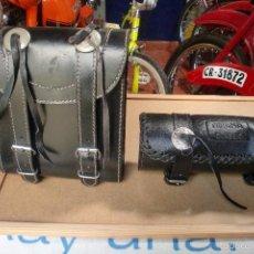 Coches y Motocicletas: MOTO, BOLSA DE CUERO CUADRADA (LA REDONDADA NO ESTA). Lote 57017396