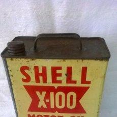 Coches y Motocicletas: LATA ACEITE SHELL X-100 MOTOR OIL - 5 LITROS. Lote 57262321