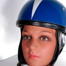 Coches y Motocicletas: CASCO DE MOTO DURALEU FORTE DE ÉPOCA MUY BIEN CONSERVADO DECORACIONES URBANAS SHABBY CHIC. Lote 57503979
