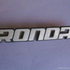 Coches y Motocicletas: ANAGRAMA RONDA. Lote 57719060