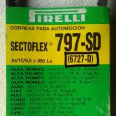 Coches y Motocicletas: CORREA PIRELLI SECTOFLEX 797-SD , 6727-D , AV 10 / 9,5 X 850 LA , VER ANUNCIO PARA MODELOS DE COCHE. Lote 65246551