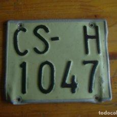 Coches y Motocicletas: MATRICULA MOTO CASTELLON. Lote 67808713