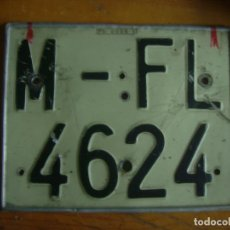 Coches y Motocicletas: ANTIGUA MATRICULA MOTO MADRID. Lote 67809317