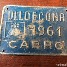 Coches y Motocicletas: PLACA O CHAPA MATRICULA DE CARRO. Lote 68922525