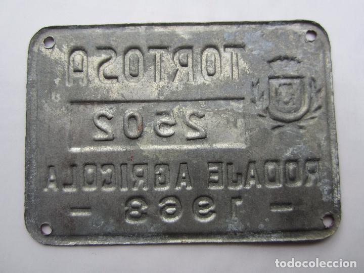 Coches y Motocicletas: chapa de arbitrio , rodaje agricola , tortosa 1963 , --tarragona - Foto 2 - 69746837