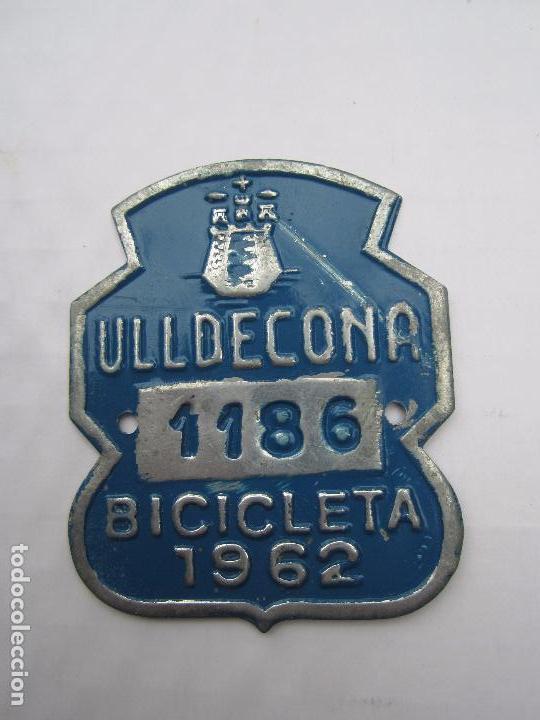 CHAPA DE ARBITRIO , BICICLETA , ULLDECONA 1962 MONTSIA - TARRAGONA (Coches y Motocicletas - Repuestos y Piezas (antiguos y clásicos))