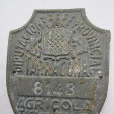 Coches y Motocicletas: CHAPA DE ARBITRIO , TASA DE RODAJE AGRICOLA , TARRAGONA 1951. Lote 69747261