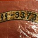 Coches y Motocicletas: MATRÍCULA DE MOTOCICLETA WAFFEN SS ALEMANA,TERCER REICH. ADOLF HITLER, FUHRER, NAZI. Lote 108832920