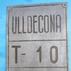 Coches y Motocicletas: MUY ANTIGUA , CHAPA DE ARBITRIO , TRANSPORTE , ULLDECONA MONTSIA - TARRAGONA. Lote 70013189