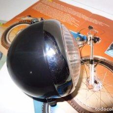 Coches y Motocicletas: BULTACO SHERPA, ALPINA, LOBITO, MATADOR, FARO DELANTERO METALICO COLOR NEGRO. Lote 121556359
