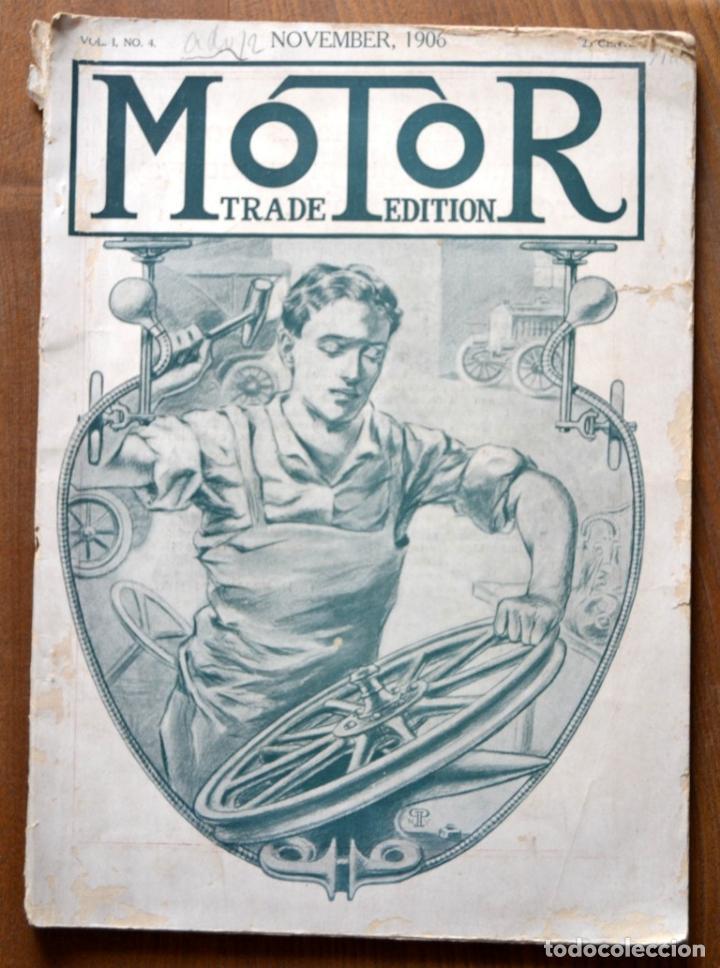 AÑO 1906 - VOL.1 Nº 4 / MOTOR - TRADE EDITION / VEHICULOS DE EPOCA / ANUNCIOS PUBLICIDAD (Coches y Motocicletas - Repuestos y Piezas (antiguos y clásicos))