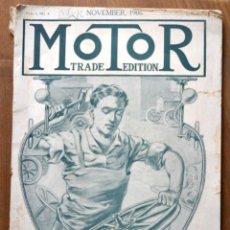 Coches y Motocicletas: AÑO 1906 - VOL.1 Nº 4 / MOTOR - TRADE EDITION / VEHICULOS DE EPOCA / ANUNCIOS PUBLICIDAD. Lote 84162856