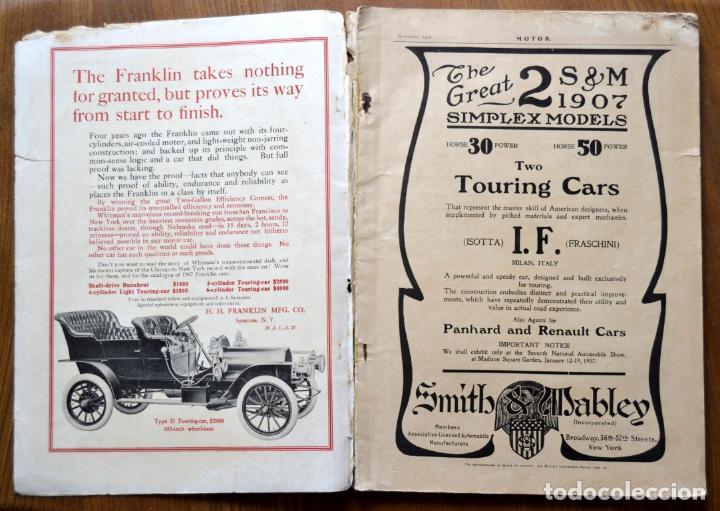 Coches y Motocicletas: Año 1906 - Vol.1 Nº 4 / MOTOR - Trade Edition / Vehiculos de Epoca / Anuncios Publicidad - Foto 3 - 84162856
