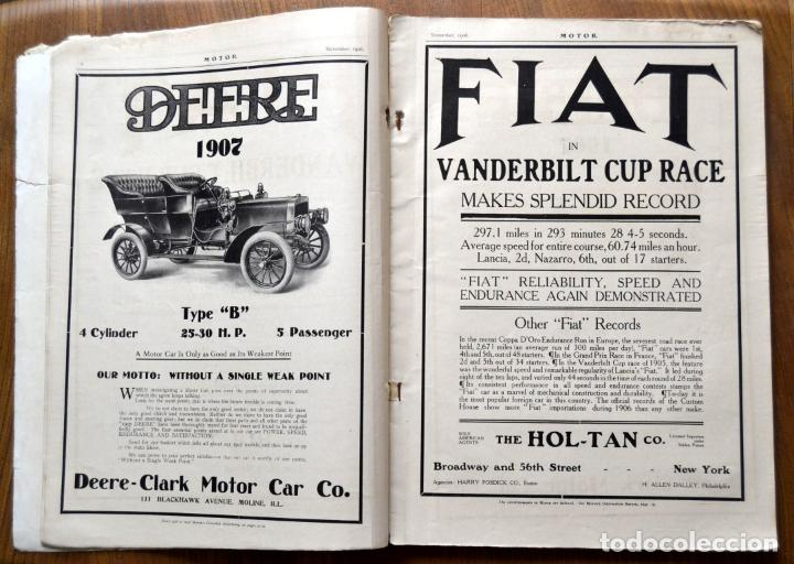 Coches y Motocicletas: Año 1906 - Vol.1 Nº 4 / MOTOR - Trade Edition / Vehiculos de Epoca / Anuncios Publicidad - Foto 5 - 84162856