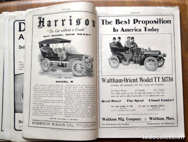 Coches y Motocicletas: Año 1906 - Vol.1 Nº 4 / MOTOR - Trade Edition / Vehiculos de Epoca / Anuncios Publicidad - Foto 8 - 84162856