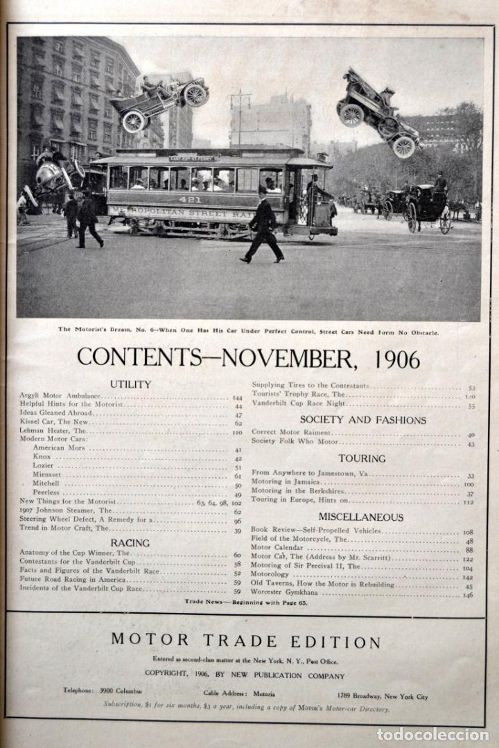 Coches y Motocicletas: Año 1906 - Vol.1 Nº 4 / MOTOR - Trade Edition / Vehiculos de Epoca / Anuncios Publicidad - Foto 11 - 84162856