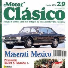 Coches y Motocicletas: MOTOR CLASICO 29 MASERATI MEXICO. Lote 85254472