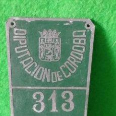 Coches y Motocicletas: MATRICULA DE RODAJE DIPUTACION DE CORDOBA AÑO 1961. Lote 85446852