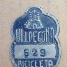 Coches y Motocicletas: CHAPA DE ARBITRIO BICICLETA 1965 , ULLDECONA . Lote 87381648