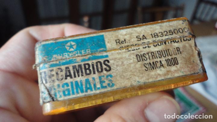 Coches y Motocicletas: ANTIGUO JUEGO DE CONTACTOS.COCHE SIMCA 1000. - Foto 6 - 90373832