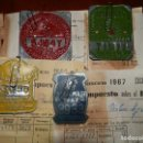 Coches y Motocicletas: IMPUESTOS MUNICIPALES Y PROVINCIALES BICICLETAS,AYUNTAMIENTO ALGEMESI,DIPUTACION DE VALENCIA.1967-68. Lote 92249920