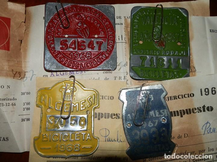 Coches y Motocicletas: IMPUESTOS MUNICIPALES Y PROVINCIALES BICICLETAS,AYUNTAMIENTO ALGEMESI,DIPUTACION DE VALENCIA.1967-68 - Foto 2 - 92249920