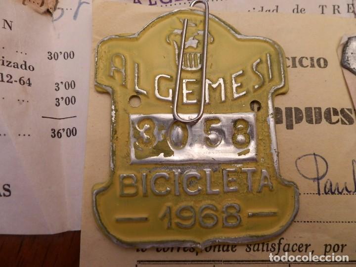 Coches y Motocicletas: IMPUESTOS MUNICIPALES Y PROVINCIALES BICICLETAS,AYUNTAMIENTO ALGEMESI,DIPUTACION DE VALENCIA.1967-68 - Foto 3 - 92249920