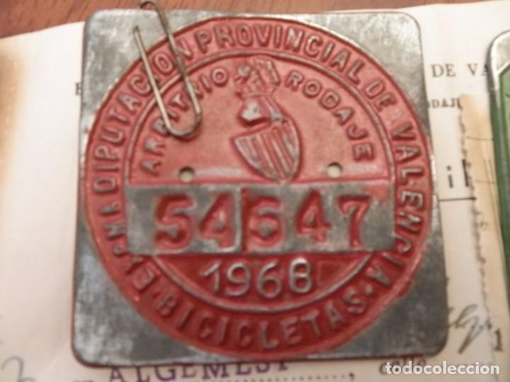 Coches y Motocicletas: IMPUESTOS MUNICIPALES Y PROVINCIALES BICICLETAS,AYUNTAMIENTO ALGEMESI,DIPUTACION DE VALENCIA.1967-68 - Foto 5 - 92249920
