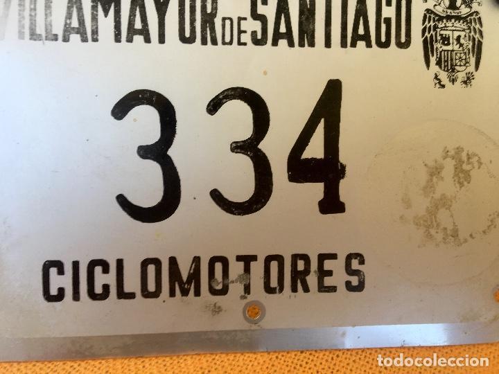 Coches y Motocicletas: Placa matricula villamayor de santiago ciclomotor cuenca la mancha franco escudo franquista - Foto 4 - 94979343