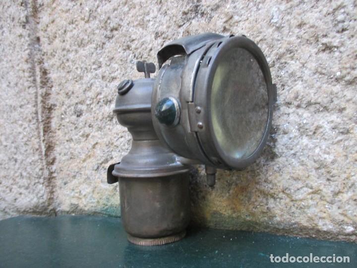 FARO CARBURO LINTERNA DE BICICLETA - HACIA 1920/30 + INFO Y FOTOS. (Coches y Motocicletas - Repuestos y Piezas (antiguos y clásicos))