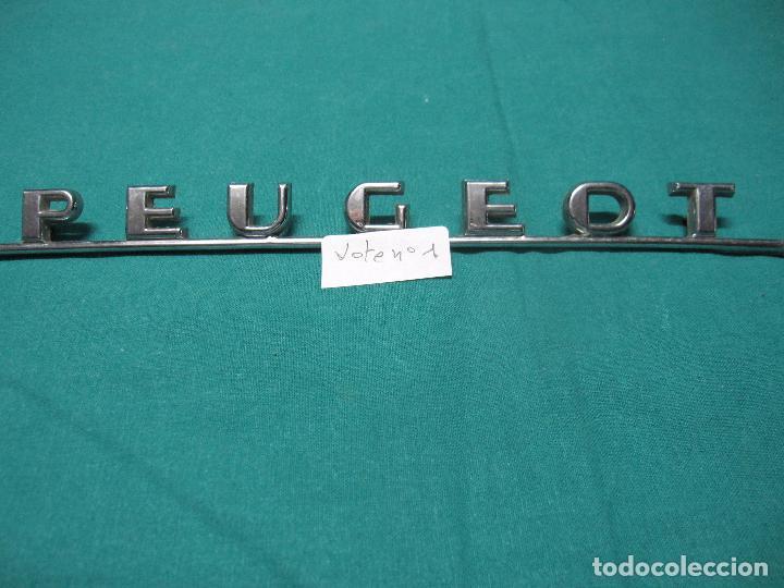 ANTIGUO LOGOTIPO DE METAL PEUGEOT VEHICULO LOTE Nº 1 (Coches y Motocicletas - Repuestos y Piezas (antiguos y clásicos))