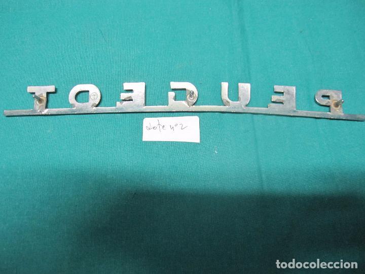 Coches y Motocicletas: ANTIGUO LOGOTIPO DE METAL PEUGEOT LOTE Nº 2 - Foto 3 - 96457775