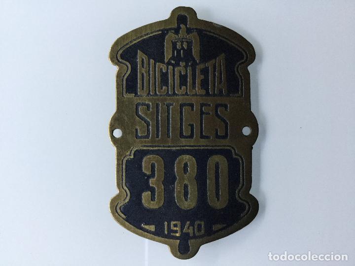 MATRICULA BICICLETA SITGES 1940 (Coches y Motocicletas - Repuestos y Piezas (antiguos y clásicos))