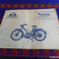 Coches y Motocicletas: CATÁLOGO OFICIAL DE PIEZAS SUELTAS CICLOMOTOR MOBYLETTE MOBYMATIC. FÁBRICA DE ÉIBAR. RARO.. Lote 104684095