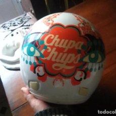 Coches y Motocicletas: CASCO PUBLICITARIO INTEGRAL CARAMELOS CHUPACHUPS CHUPA CHUPS PARA MOTOS . ORIGINAL VER FOTOS. Lote 107773751