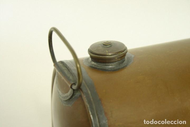 Coches y Motocicletas: Calentador de pies para el coche. Deposito de agua en cobre. Made in England. XIX Victoriano - Foto 4 - 109036223