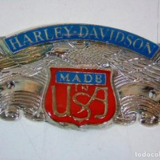 Coches y Motocicletas: PRECIOSA PLACA DECORATIVA DE LA MARCA HARLEY DAVIDSON.. Lote 110476375