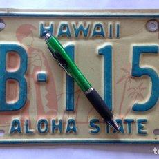 Coches y Motocicletas: MATRICULA. HAWAII. Lote 110855688