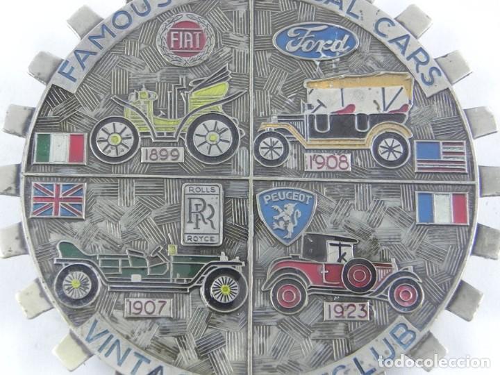 Coches y Motocicletas: ANTIGUA CHAPA O PLACA PARA COCHE, FAMOUS HISTORICAL CARS, VINTAGE CAR CLUB, FIAT, FORD, ROLLS ROYCDE - Foto 3 - 116073143
