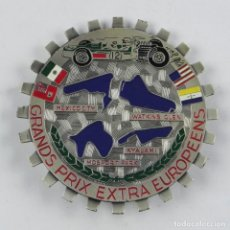 Coches y Motocicletas: ANTIGUA CHAPA O PLACA PARA COCHE, GRANDS PRIX EXTRA EUROPEENS, MEXICO CITY, WATKINS GLEN, KYALAMI, M. Lote 116074987