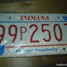 Automobili e Motociclette: MATRICULA INDIANA HOOSIER HOSPITALITY AUTENTICA VER FOTOS. Lote 116654499