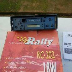 Coches y Motocicletas: RADIO CASETTE SIN USAR CARÁTULA EXTRIBLE. Lote 117112991